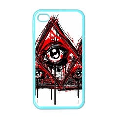 Red White Pyramids Apple Iphone 4 Case (color)