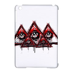 Red White Pyramids Apple Ipad Mini Hardshell Case (compatible With Smart Cover)