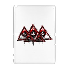 Red White pyramids Samsung Galaxy Note 10.1 (P600) Hardshell Case