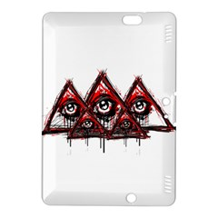 Red White pyramids Kindle Fire HDX 8.9  Hardshell Case