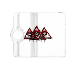 Red White pyramids Kindle Fire HDX 8.9  Flip 360 Case