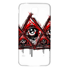 Red White pyramids Samsung Galaxy S5 Back Case (White)