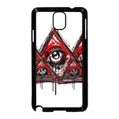 Red White pyramids Samsung Galaxy Note 3 Neo Hardshell Case (Black)
