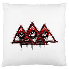 Red White pyramids Standard Flano Cushion Case (One Side)