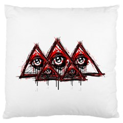Red White pyramids Large Flano Cushion Case (One Side)