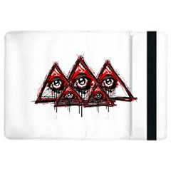 Red White pyramids Apple iPad Air 2 Flip Case