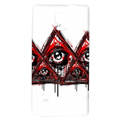 Red White pyramids Samsung Note 4 Hardshell Back Case