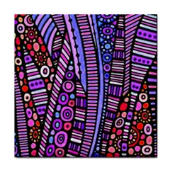 Stained Glass Tribal Pattern Ceramic Tile