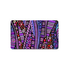 Stained Glass Tribal Pattern Magnet (name Card)