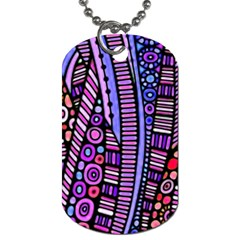 Stained Glass Tribal Pattern Dog Tag (two Sided)