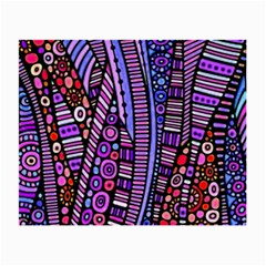 Stained Glass Tribal Pattern Glasses Cloth (small, Two Sided)