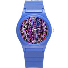 Stained Glass Tribal Pattern Plastic Sport Watch (small)
