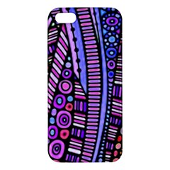 Stained Glass Tribal Pattern Apple Iphone 5 Premium Hardshell Case