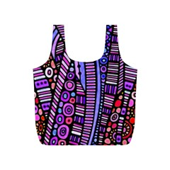 Stained glass tribal pattern Reusable Bag (S)