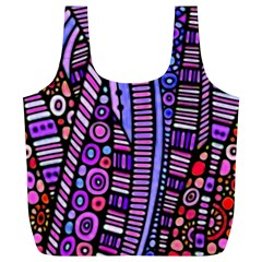 Stained Glass Tribal Pattern Reusable Bag (xl)