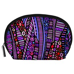 Stained glass tribal pattern Accessory Pouch (Large)