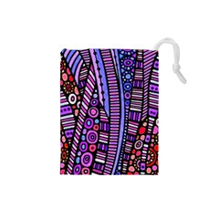 Stained glass tribal pattern Drawstring Pouch (Small)