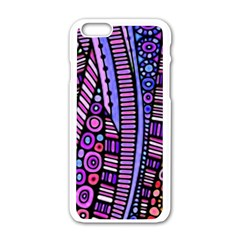Stained Glass Tribal Pattern Apple Iphone 6 White Enamel Case