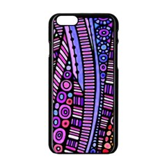 Stained glass tribal pattern Apple iPhone 6 Black Enamel Case