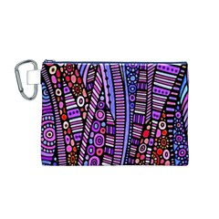 Stained Glass Tribal Pattern Canvas Cosmetic Bag (medium)
