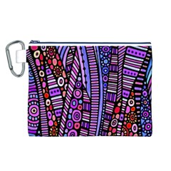 Stained glass tribal pattern Canvas Cosmetic Bag (Large)