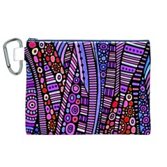 Stained glass tribal pattern Canvas Cosmetic Bag (XL)