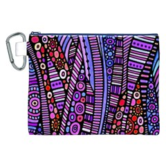 Stained glass tribal pattern Canvas Cosmetic Bag (XXL)