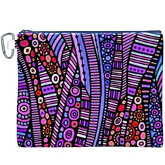 Stained glass tribal pattern Canvas Cosmetic Bag (XXXL)