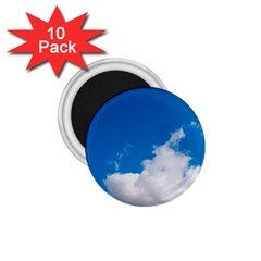 Bright Blue Sky 2 1 75  Button Magnet (10 Pack)