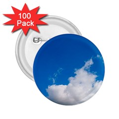 Bright Blue Sky 2 2 25  Button (100 Pack)