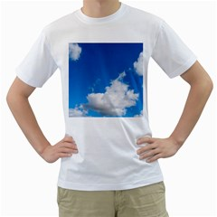 Bright Blue Sky 2 Men s Two-sided T-shirt (White)