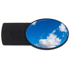 Bright Blue Sky 2 2gb Usb Flash Drive (oval)