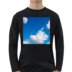 Bright Blue Sky 2 Men s Long Sleeve T-shirt (Dark Colored)
