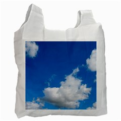Bright Blue Sky 2 White Reusable Bag (two Sides)