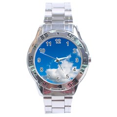 Bright Blue Sky 2 Stainless Steel Watch
