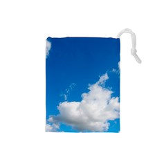 Bright Blue Sky 2 Drawstring Pouch (Small)