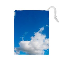 Bright Blue Sky 2 Drawstring Pouch (Large)