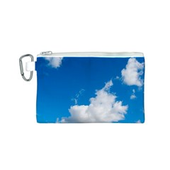Bright Blue Sky 2 Canvas Cosmetic Bag (Small)