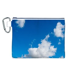 Bright Blue Sky 2 Canvas Cosmetic Bag (Large)