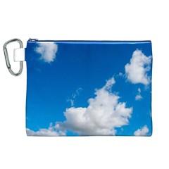 Bright Blue Sky 2 Canvas Cosmetic Bag (xl)