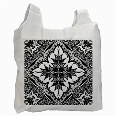 Doodle Cross  White Reusable Bag (one Side)
