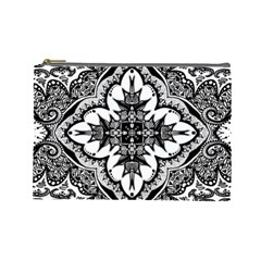 Doodle Cross  Cosmetic Bag (large)
