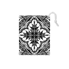 Doodle Cross  Drawstring Pouch (small)