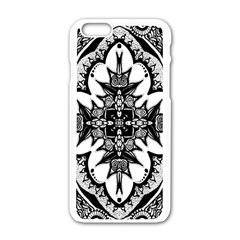Doodle Cross  Apple iPhone 6 White Enamel Case