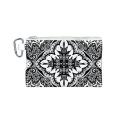 Doodle Cross  Canvas Cosmetic Bag (small)