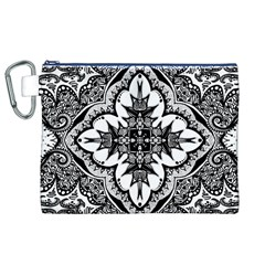 Doodle Cross  Canvas Cosmetic Bag (XL)