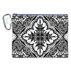 Doodle Cross  Canvas Cosmetic Bag (XXL)