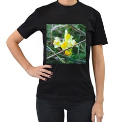Linaria Women s Two Sided T-shirt (Black)