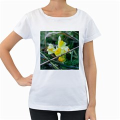 Linaria Women s Loose-Fit T-Shirt (White)