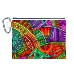 Happy Tribe Canvas Cosmetic Bag (Large)